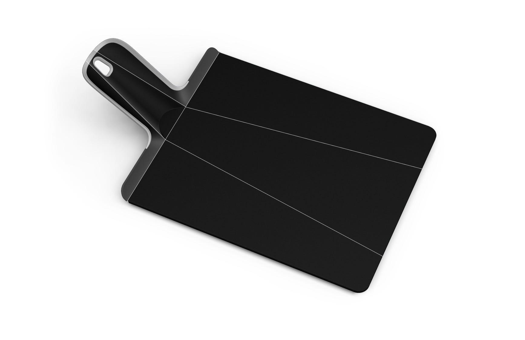 Tabla amplia y plegable para picar Joseph Joseph® Chop2Pot™, en negro